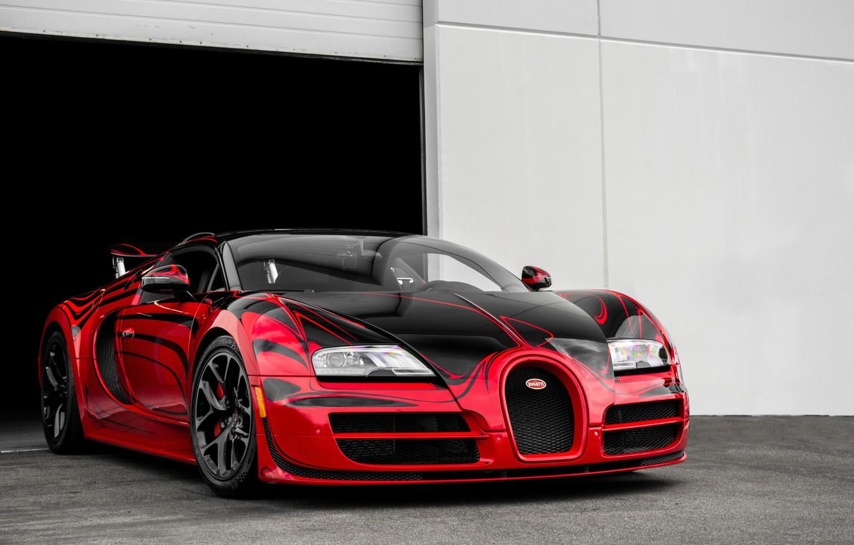 Wallpaper Bugatti, Grand, Veyron, Sport, Rouge, aka, Hellbug