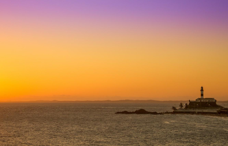 Wallpaper Sea Sunset Lighthouse The Evening Brazil Sea
