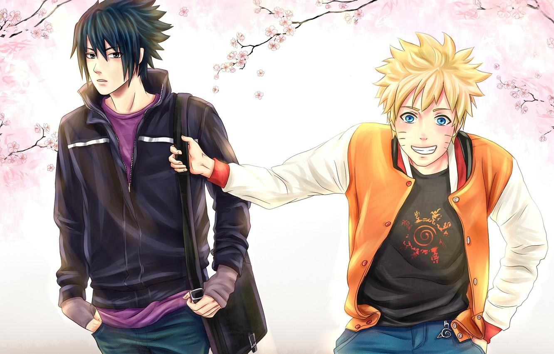 Wallpaper Spring Sakura Sasuke Naruto Friends Naruto Art Images For Desktop Section Syonen Download