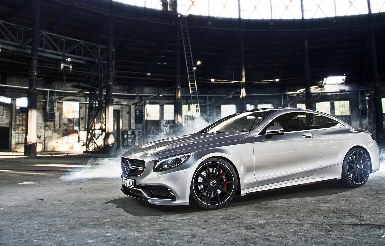 Photo wallpaper Mercedes-Benz, Car, AMG, Coupe, Smoke, Class, Premium, S63