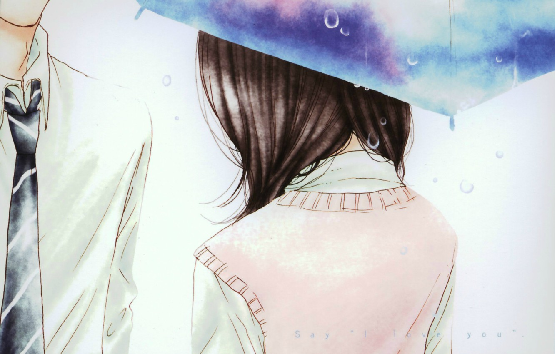 Wallpaper Drops Umbrella Tie Two Kurosawa Yamato Tachibana
