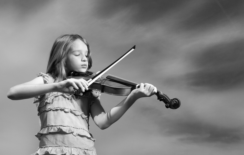 Photo wallpaper music, mood, violin, girl