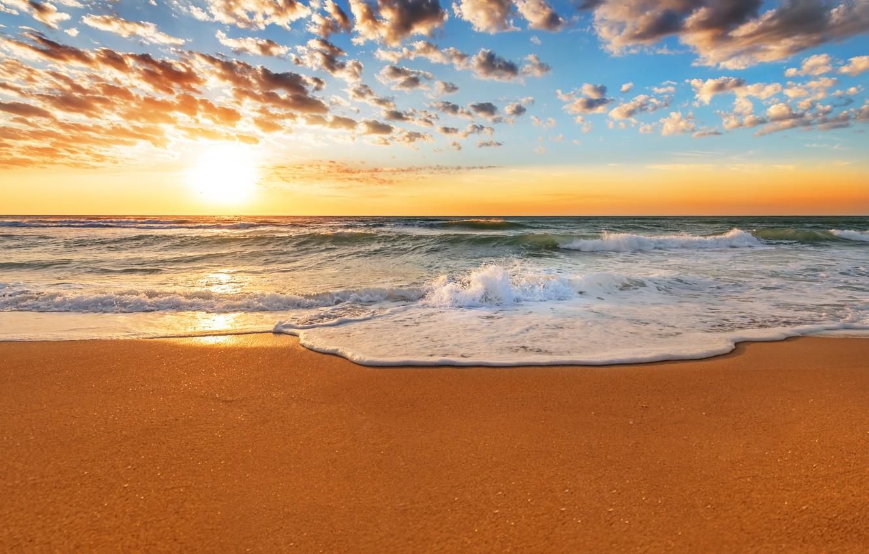 Photo wallpaper sand, sea, beach, the sky, water, landscape, sunset, nature, the ocean, beach, sky, sea, ocean, …