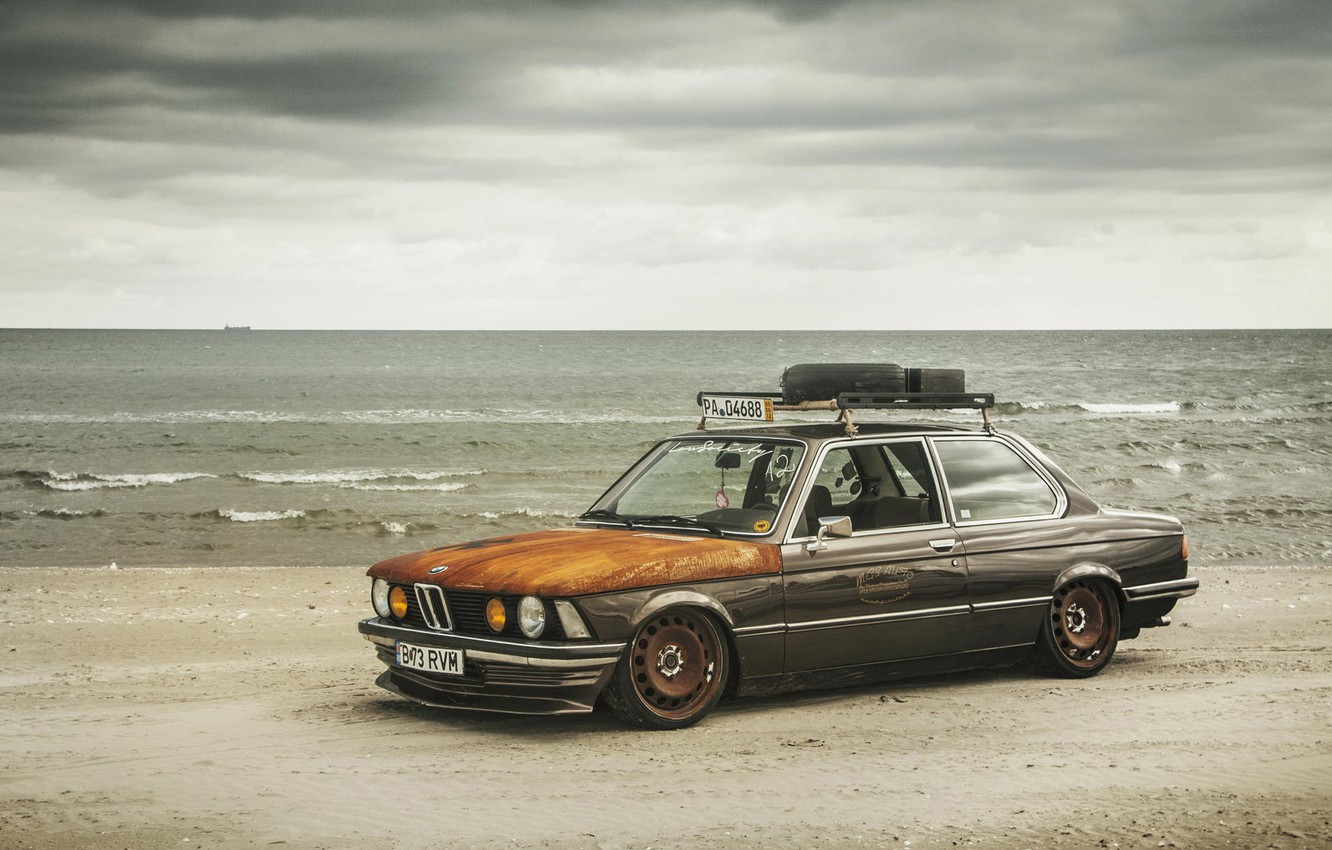 Photo wallpaper BMW, tuning, stance, e21