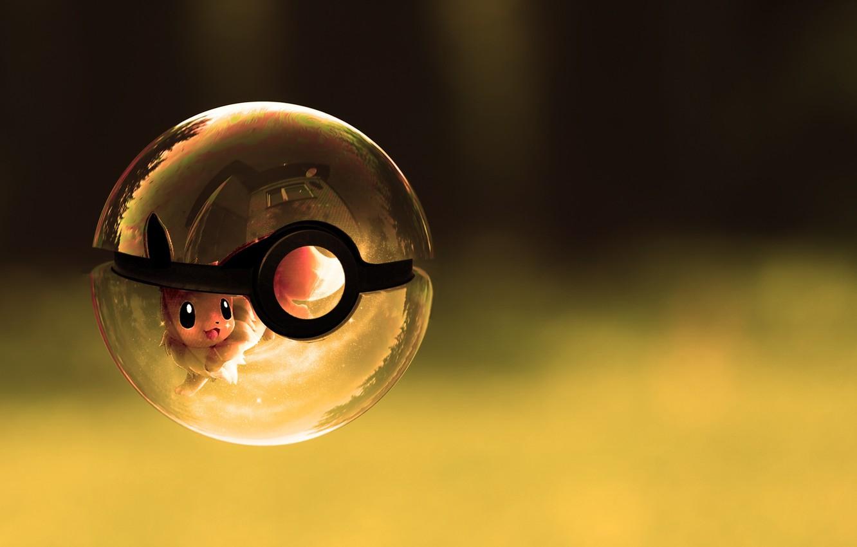 Photo wallpaper glass, ship, ball, pokemon
