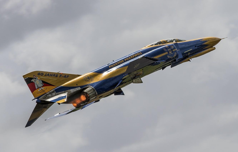 Photo wallpaper flight, Phantom II, McDonnell Douglas, F-4F