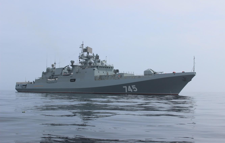 Photo wallpaper ship, frigate, head, project 11356, guard, Admiral Grigorovich