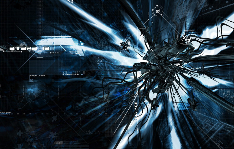 Photo wallpaper darkness, techno, monster