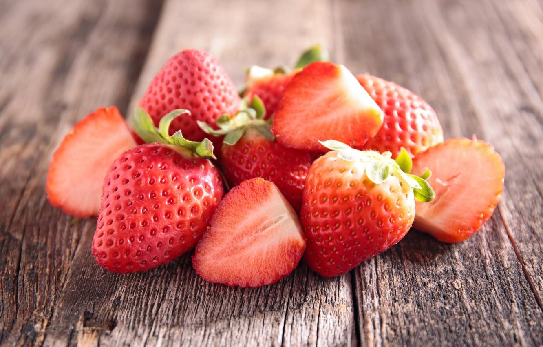 Photo wallpaper Strawberry, Board, Food, Closeup