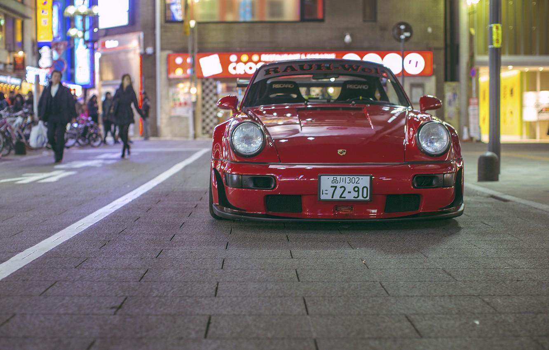 Photo wallpaper porsche, Porsche, 964