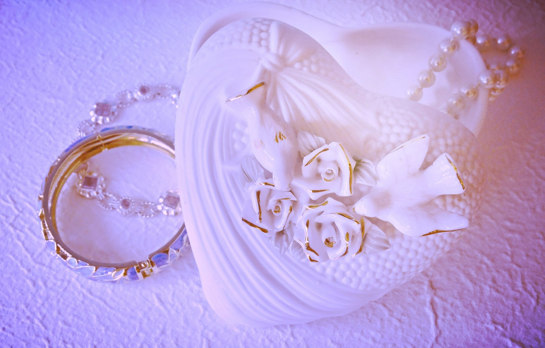 Photo wallpaper flower, decoration, lovers, heart, Valentin