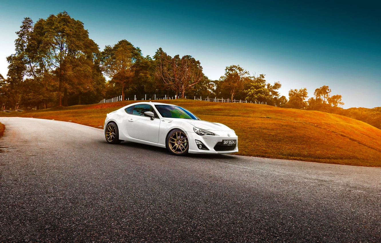 Photo wallpaper Toyota, Car, White, Sport, GT86, Shade, Photoworks