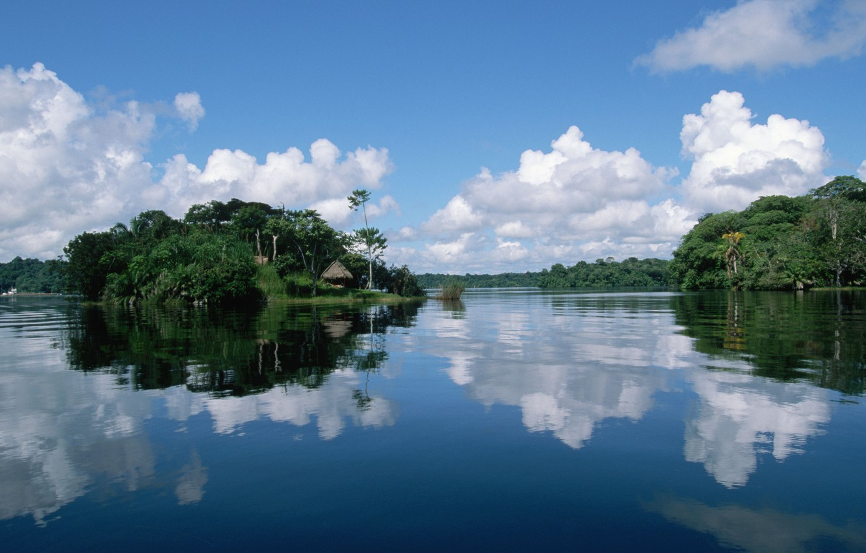 Photo wallpaper sea, Islands, river, Laguna, Bungalow
