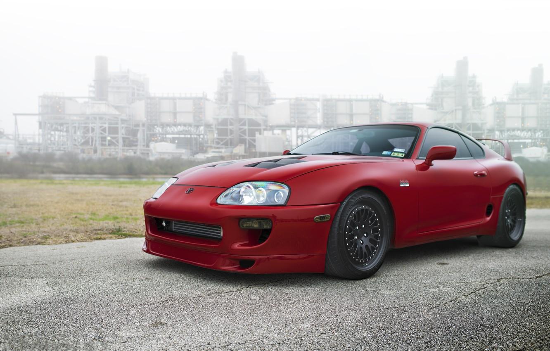 Photo wallpaper black, red, supra, drives, red, toyota, Toyota, supra