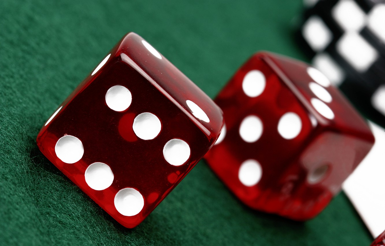 Photo wallpaper Table, Dice, Game