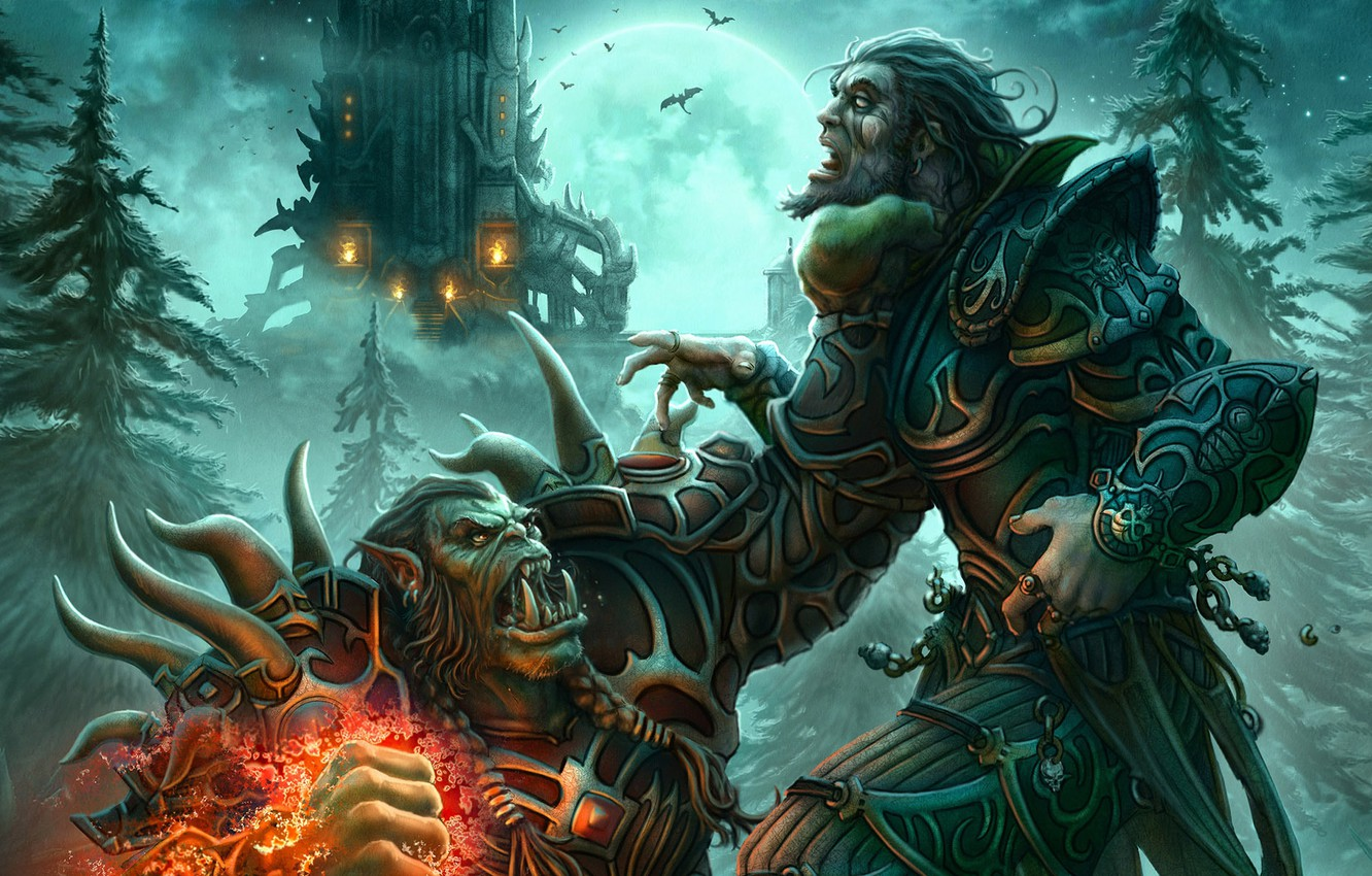Wallpaper People World Of Warcraft Orc The Warlock