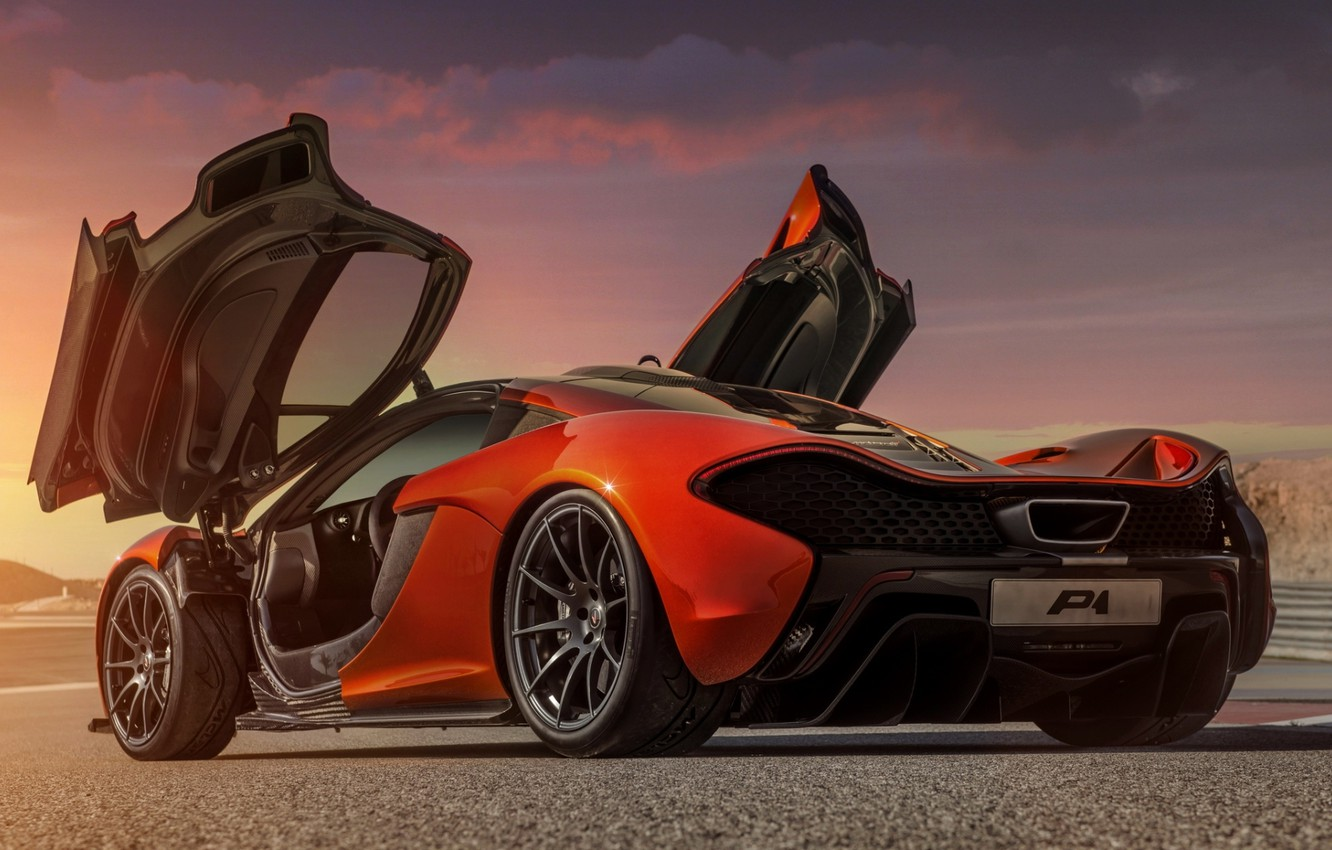 Wallpaper Concept Orange Background Mclaren Door The Concept Supercar Rear View Mclaren Images For Desktop Section Mclaren Download