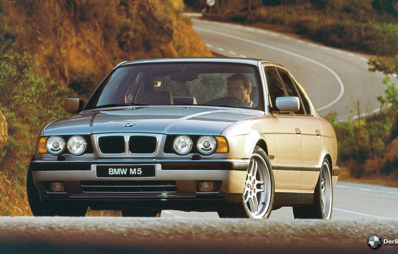 Photo wallpaper BMW, E34, M5