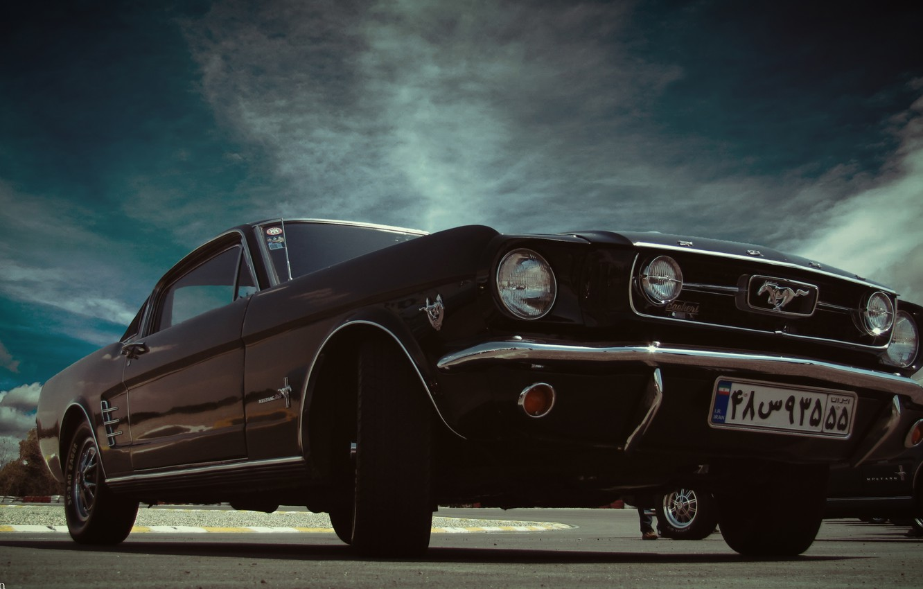 Photo wallpaper car, mustang, ford, classic, fastback