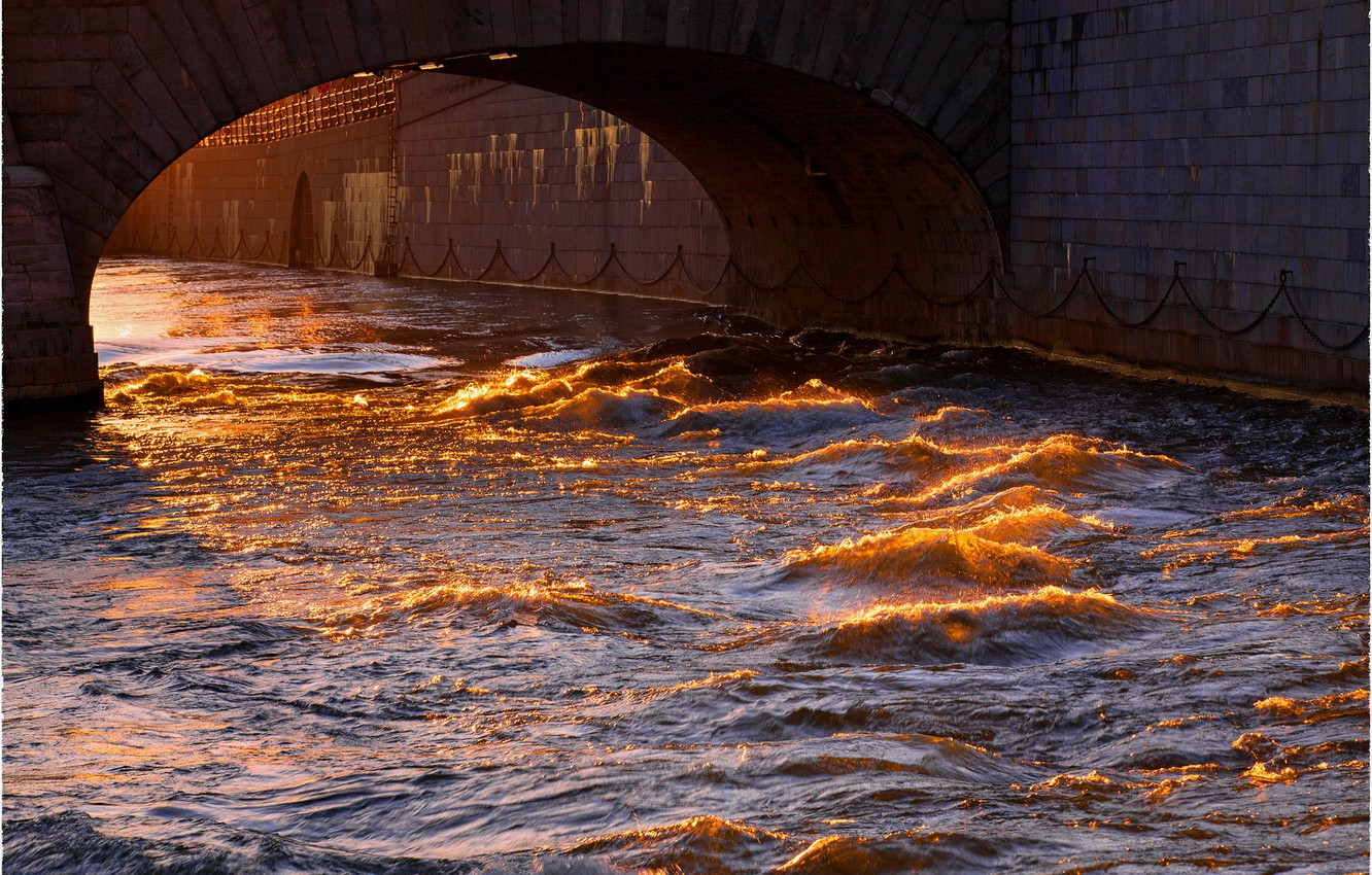 Photo wallpaper wave, water, the sun, bridge, the city, the reflection, Stockholm, Sweden, Sweden, Stockholm, Norrbro