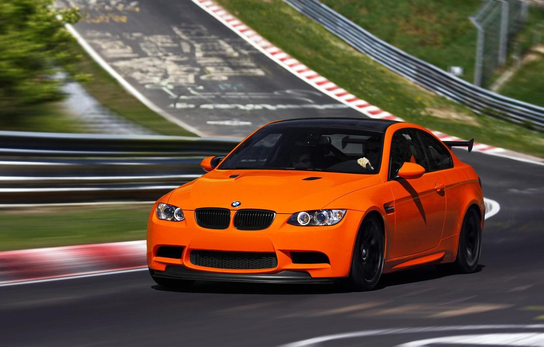 Photo wallpaper BMW, Orange, BMW, Orange, Track, E92, GTS