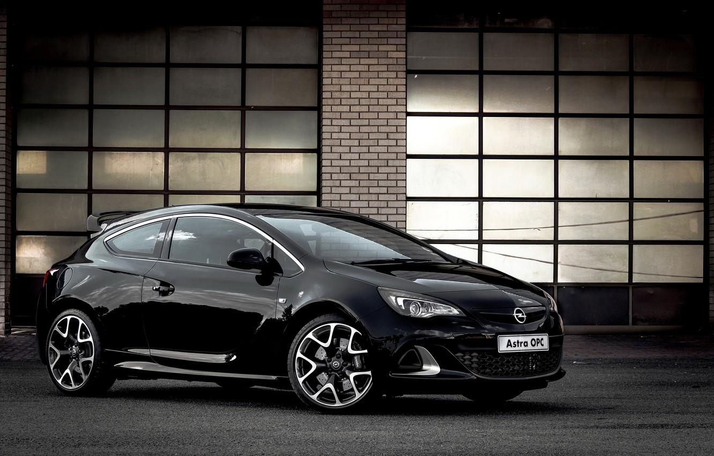 Photo wallpaper Opel, black, astra, opc