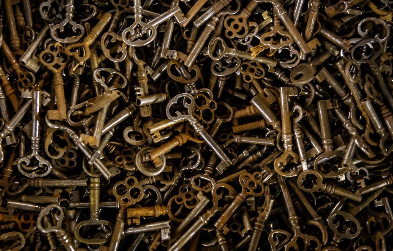 Photo wallpaper background, texture, keys
