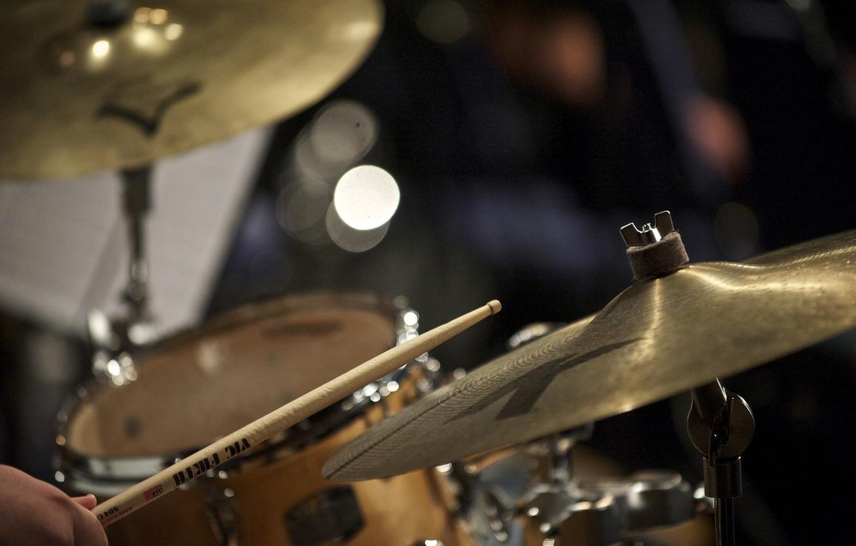 Photo wallpaper focus, jazz, plates, drums, wand