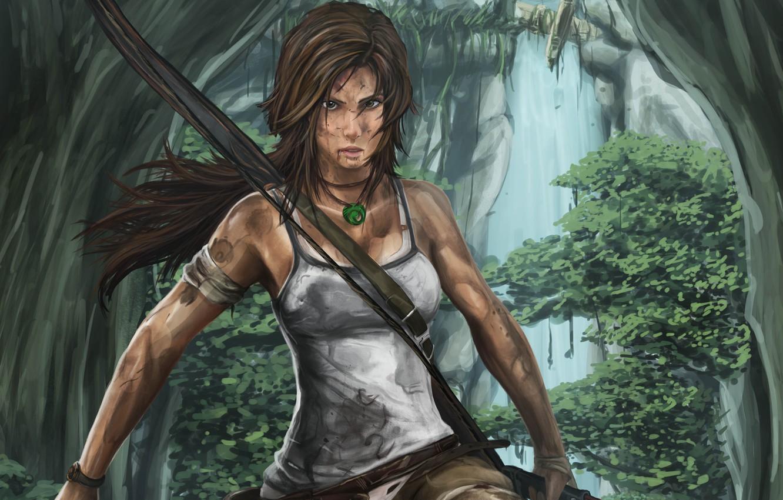 Wallpaper Girl Tomb Raider Art Lara Croft Images For