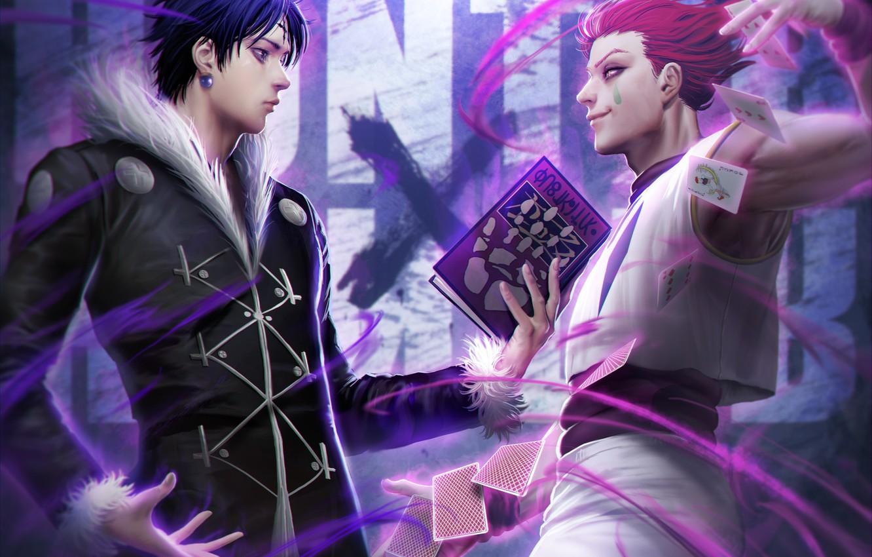 Wallpaper Anime Art Book Guys Hunter X Hunter Hisoka Halo