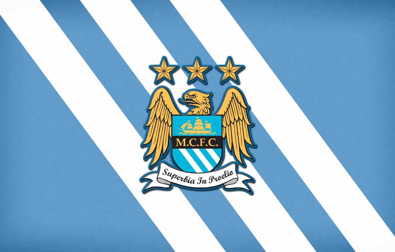 Photo wallpaper football, soccer, Minimalism, Manchester City, Emblem