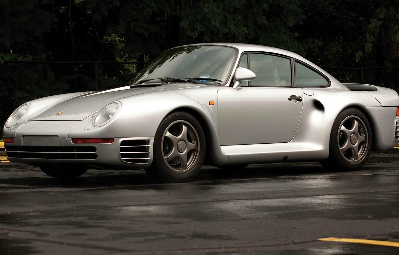 Photo wallpaper supercar, Porsche 959, designer Luigi Colani, group B