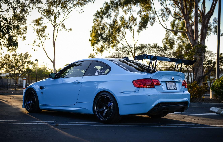 Photo wallpaper BMW, white, E92