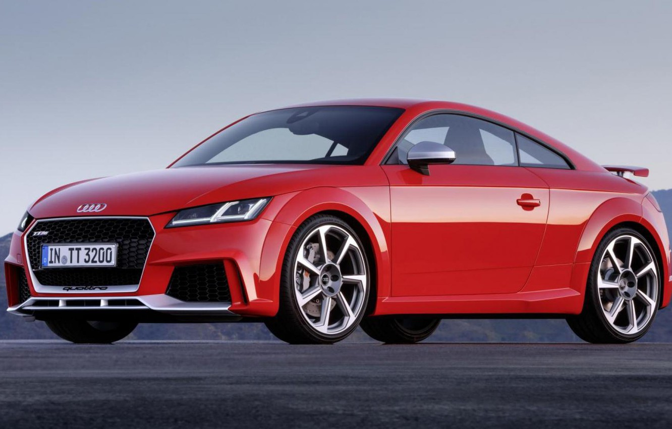 Photo wallpaper Audi, Audi, Red, The front