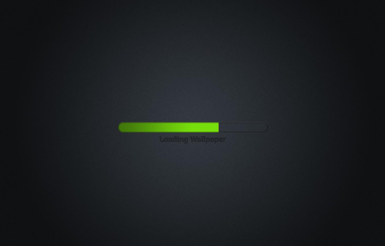 Photo wallpaper creative, strip, minimalism, green, loading, process, download