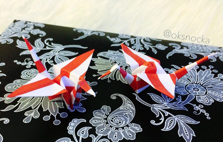 Photo wallpaper beauty, origami, cranes