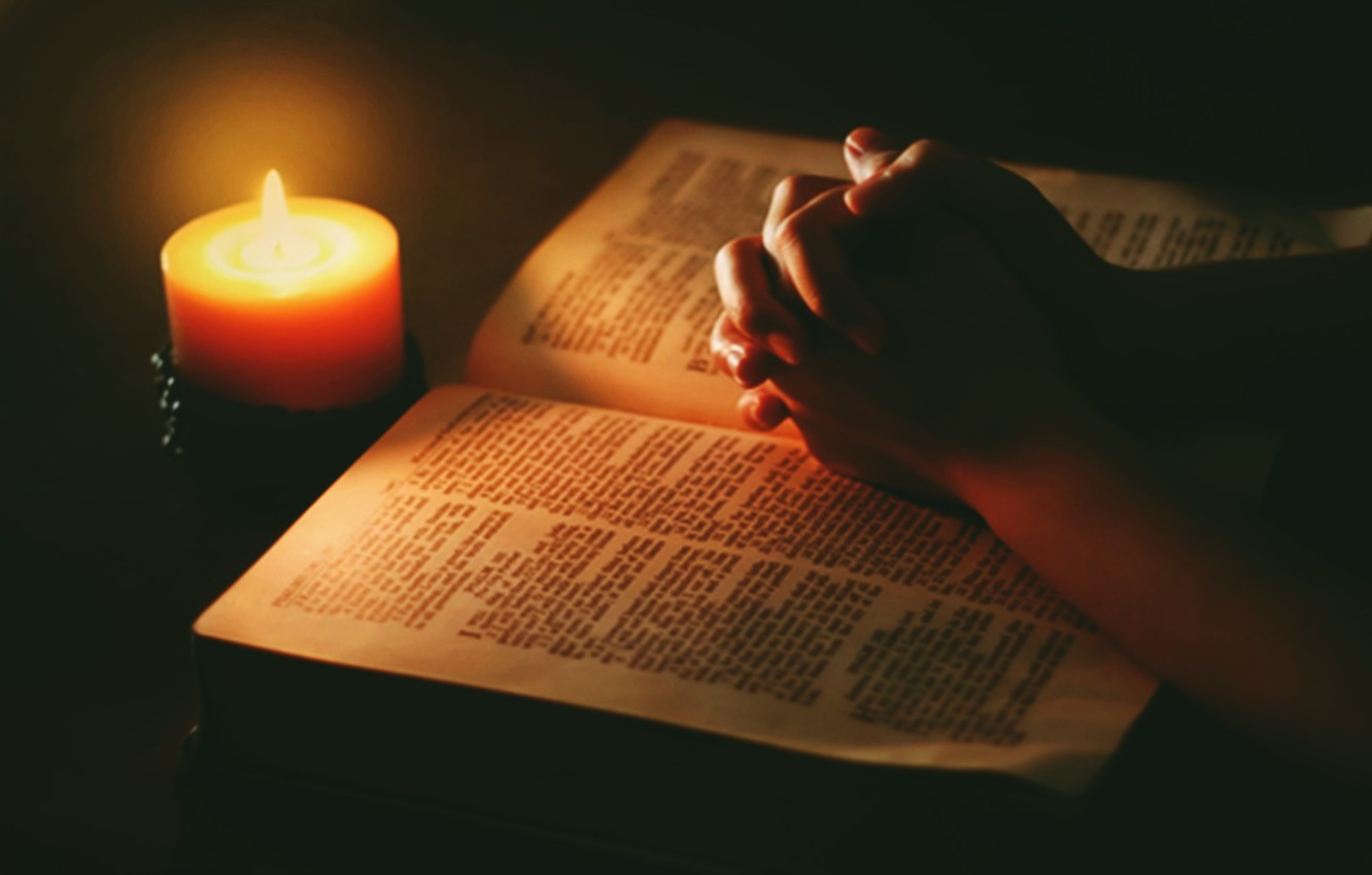 Wallpaper Light Hands Candle Bible Praying Images For
