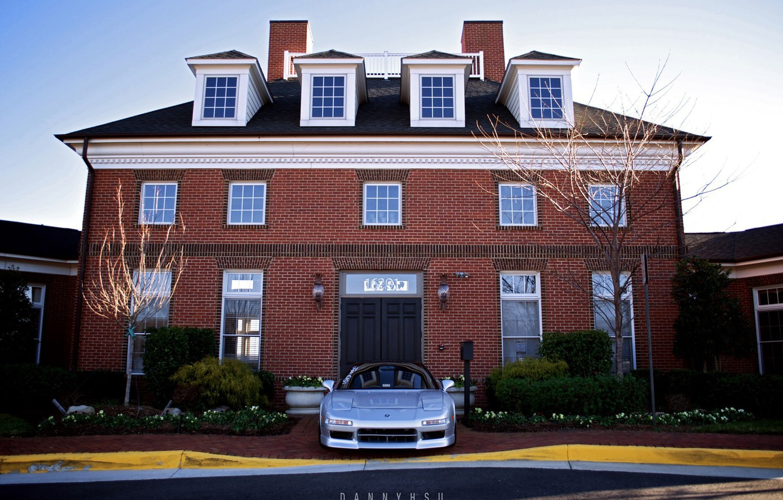 Photo wallpaper house, silver, honda, nsx, Acura, Honda NSX