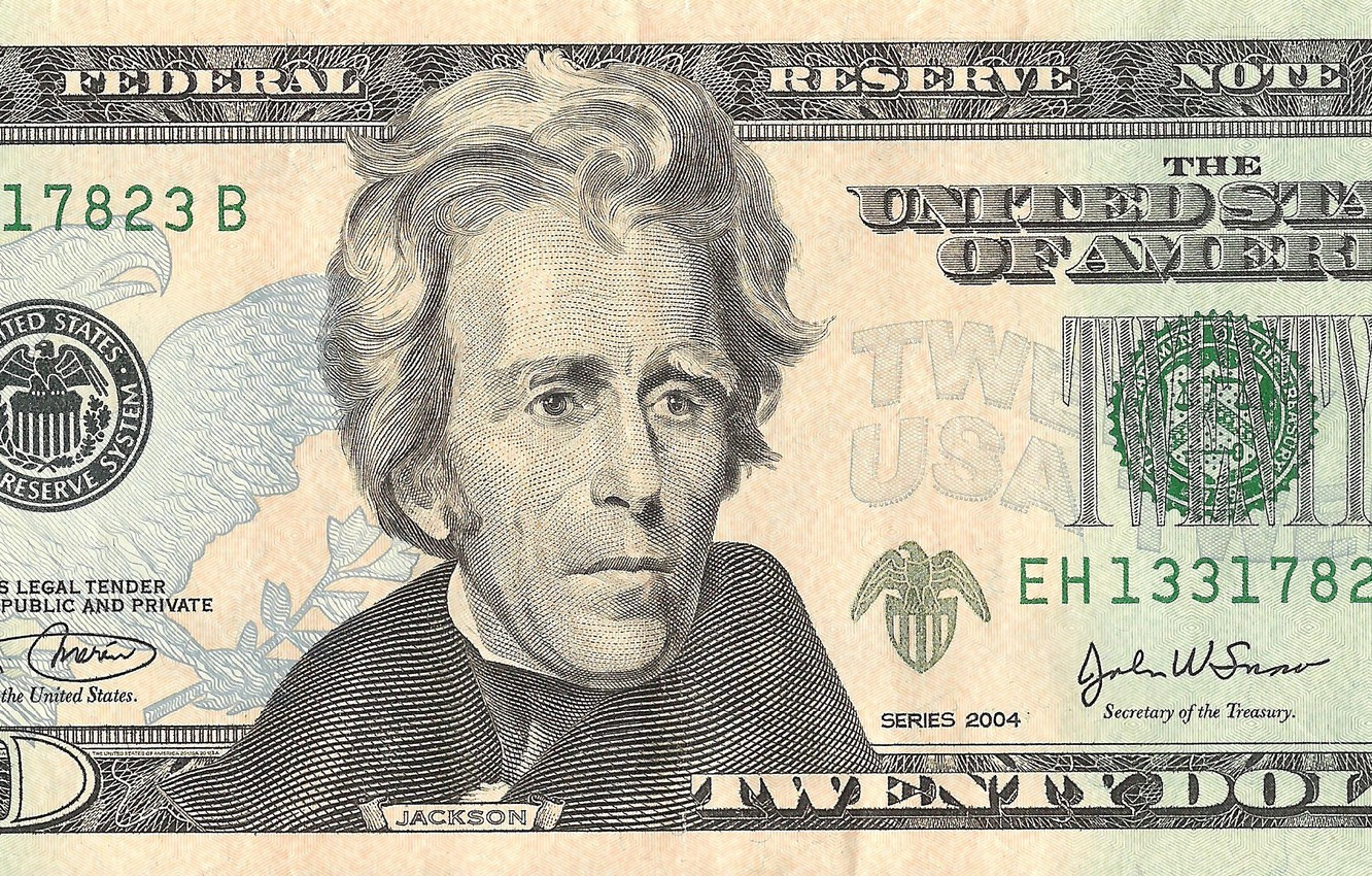 Photo wallpaper note, Jackson, america, states, dollars, united, federal, reserve