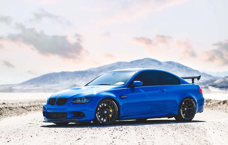 Photo wallpaper BMW, Blue, E92, M3
