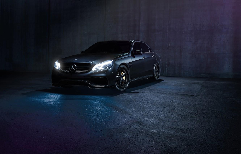 Photo wallpaper Mercedes-Benz, Dark, Front, California, Motorsport, Sonic, E63, Ligth, Nigth, AMG S