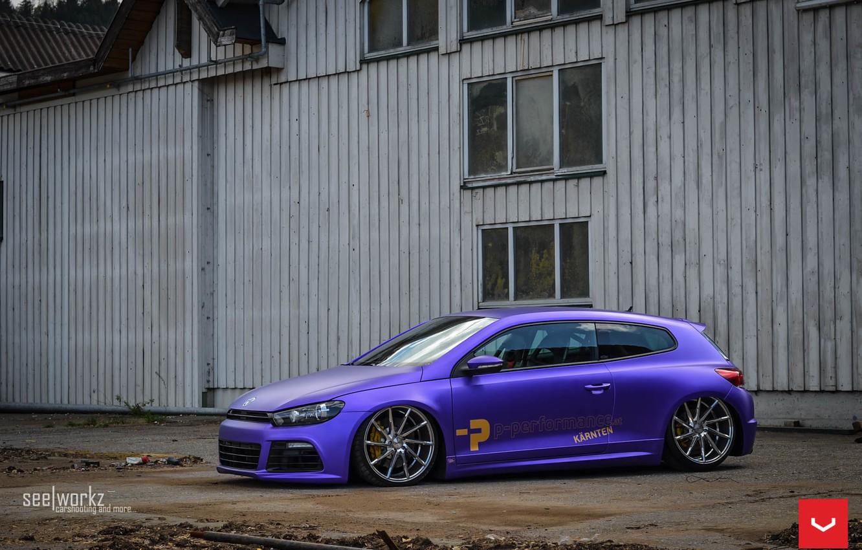 Photo wallpaper Volkswagen, Custom, Scirocco, CVT, Vossen, Wheels, Finish