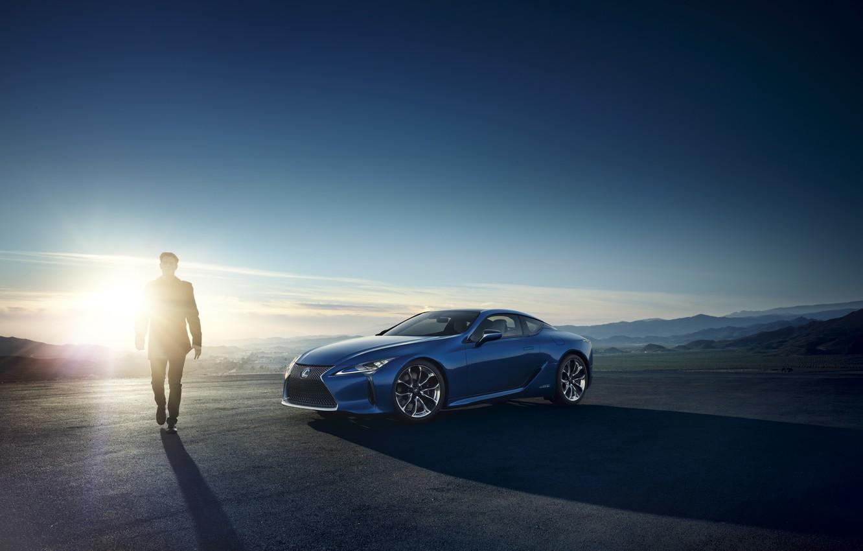 Photo wallpaper blue, Lexus, Lexus
