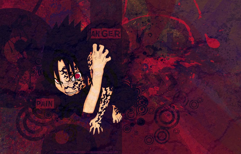 Photo wallpaper red, evil, naruto, red, naruto, Sasuke, sasuke, print