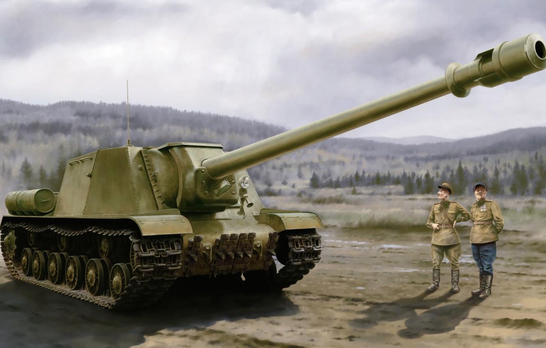 Photo wallpaper war, art, tank, ww2, russian tank, ISU-152