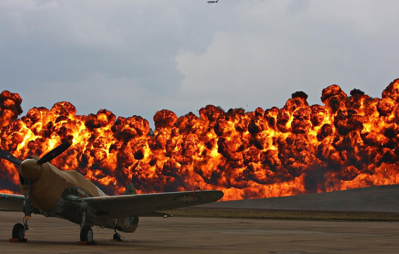 Photo wallpaper fire, weapon, war