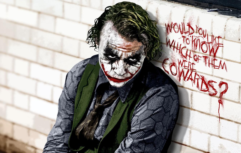 Photo wallpaper Joker, the dark knight, Heath Ledger