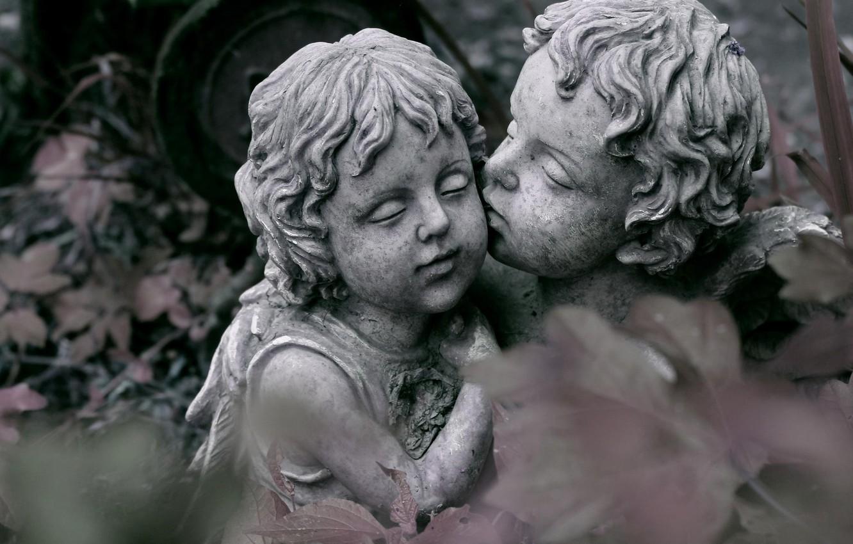 Photo wallpaper love, kiss, sculpture, love is magic