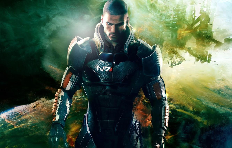 Photo wallpaper captain, effect, shepard, Shepard, mass, effect, mass, commander