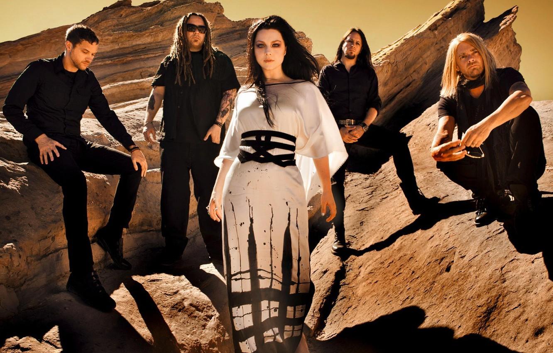 Photo wallpaper rocks, group, Amy Lee, Evanescence